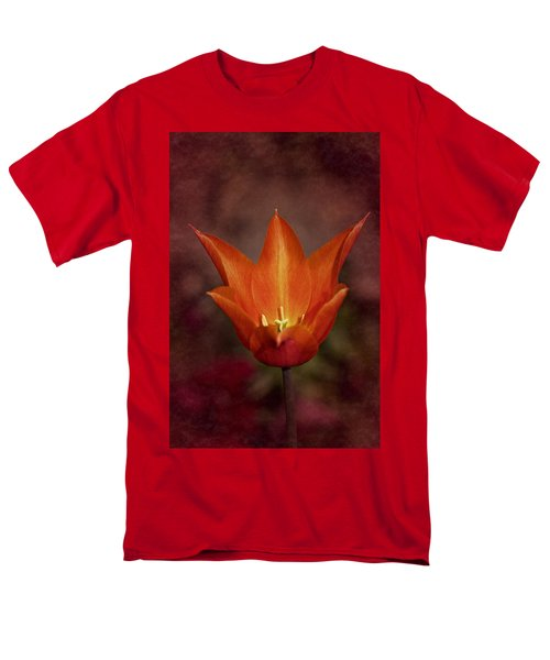 Orange Tulip Men's T-Shirt  (Regular Fit) by Richard Cummings