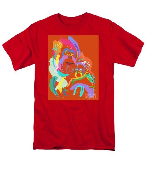Orangutan Mom And Baby Men's T-Shirt  (Regular Fit) by Go Van Kampen