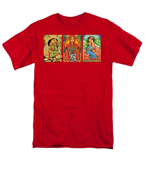 Madonnas With Child Men's T-Shirt  (Regular Fit) by Eva Campbell