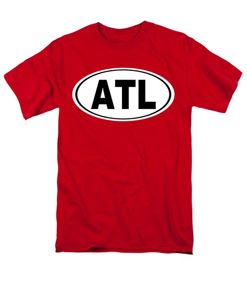 Men's T-Shirt  (Regular Fit) featuring the photograph Oval Atl Atlanta Georgia Home Pride by Keith Webber Jr