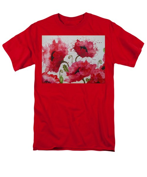 Party Poppies Men's T-Shirt  (Regular Fit) by Karen Kennedy Chatham