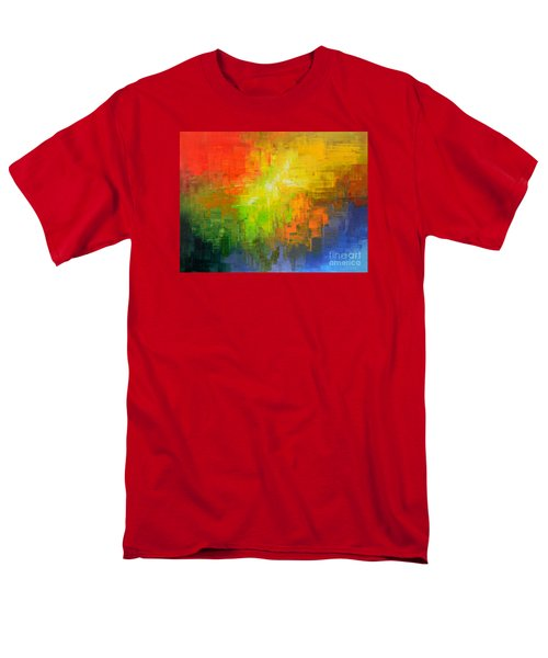 Men's T-Shirt  (Regular Fit) featuring the painting Passionate Plumage by Tatiana Iliina