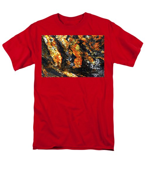 Men's T-Shirt  (Regular Fit) featuring the photograph Patterns In Stone - 186 by Paul W Faust - Impressions of Light