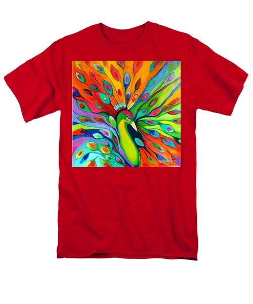 Peacock On The 4th Of July Men's T-Shirt  (Regular Fit) by Alison Caltrider