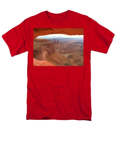 Men's T-Shirt  (Regular Fit) featuring the digital art Peering Out 2 Watercolor by Gary Baird