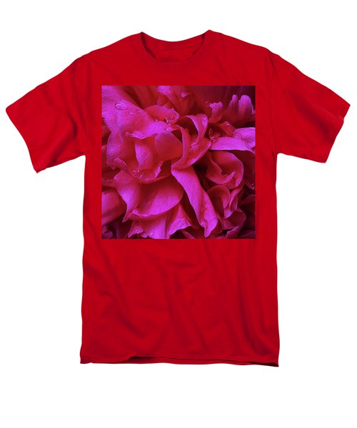 Perfectly Pink Peony Petals Men's T-Shirt  (Regular Fit)