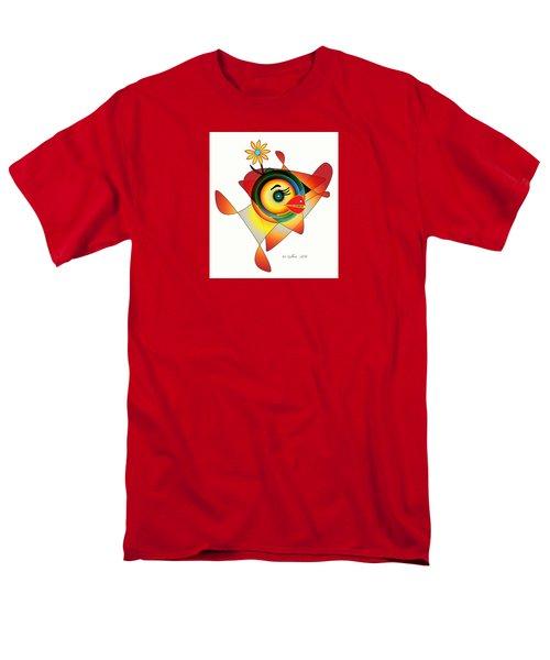 Petunia Parrot Men's T-Shirt  (Regular Fit) by Iris Gelbart