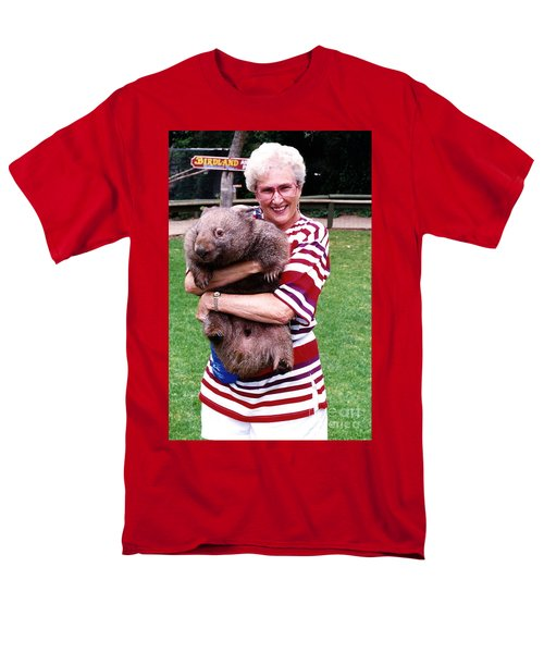 Phyllis Holding Thirty Lb Wombat Australia Men's T-Shirt  (Regular Fit) by Phyllis Kaltenbach