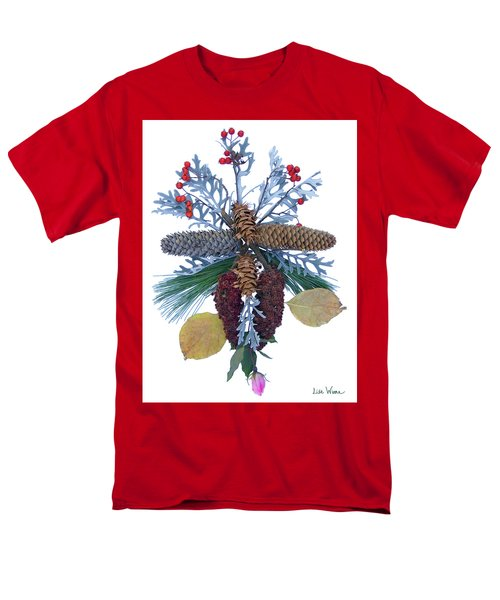 Men's T-Shirt  (Regular Fit) featuring the digital art Pine Cone Bouquet by Lise Winne