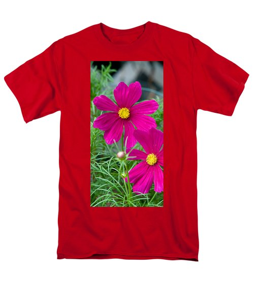 Pink Flower Men's T-Shirt  (Regular Fit) by Michael Bessler