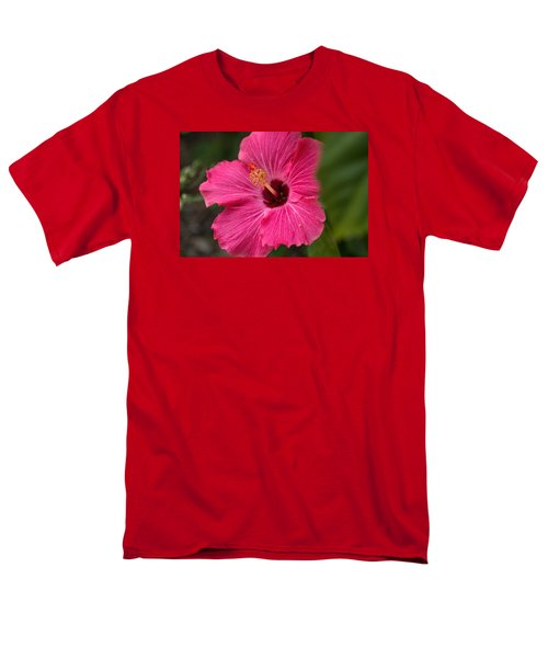 Pink Hibiscus Men's T-Shirt  (Regular Fit) by Dorothy Cunningham
