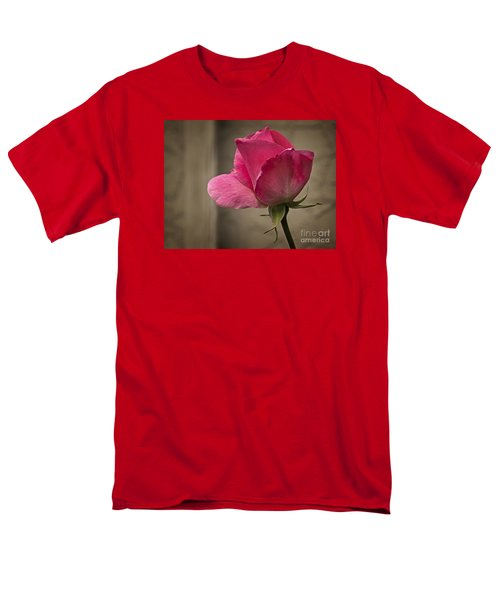 Men's T-Shirt  (Regular Fit) featuring the photograph Pink Rose by Inge Riis McDonald
