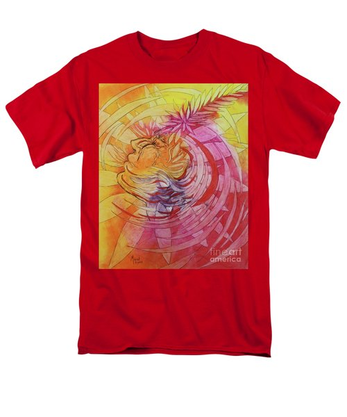 Men's T-Shirt  (Regular Fit) featuring the drawing Polynesian Warrior by Marat Essex