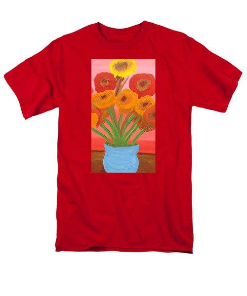 Men's T-Shirt  (Regular Fit) featuring the painting Poppies 1 by Don Koester