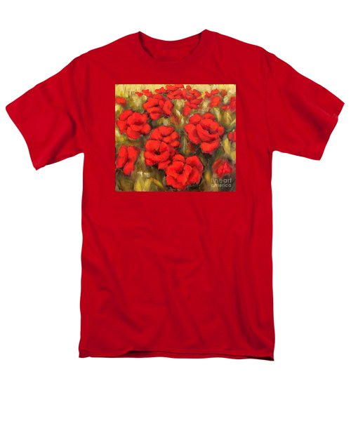 Poppies Passion Fragment Men's T-Shirt  (Regular Fit) by Inese Poga