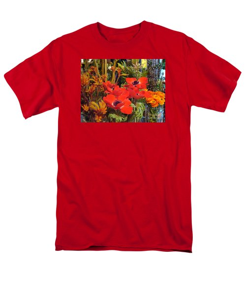 Poppiest Men's T-Shirt  (Regular Fit) by Cathy Dee Janes