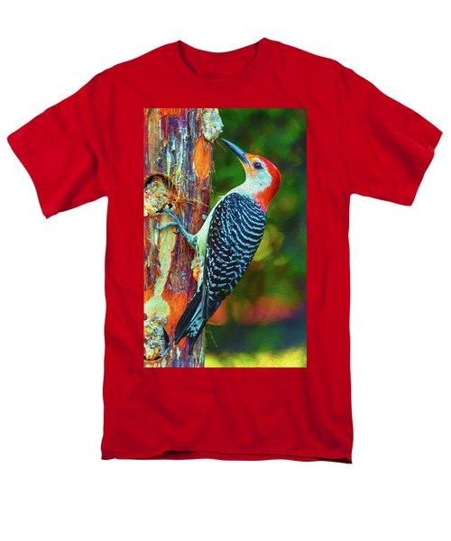 Popping Color Woodpecker Men's T-Shirt  (Regular Fit)