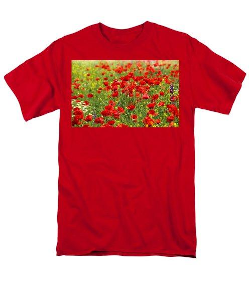 Poppy Field Men's T-Shirt  (Regular Fit) by Thomas M Pikolin