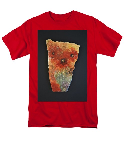 Men's T-Shirt  (Regular Fit) featuring the ceramic art Poppy Impressions by Kathleen Pio