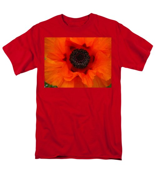 Men's T-Shirt  (Regular Fit) featuring the painting Poppy by Renate Nadi Wesley