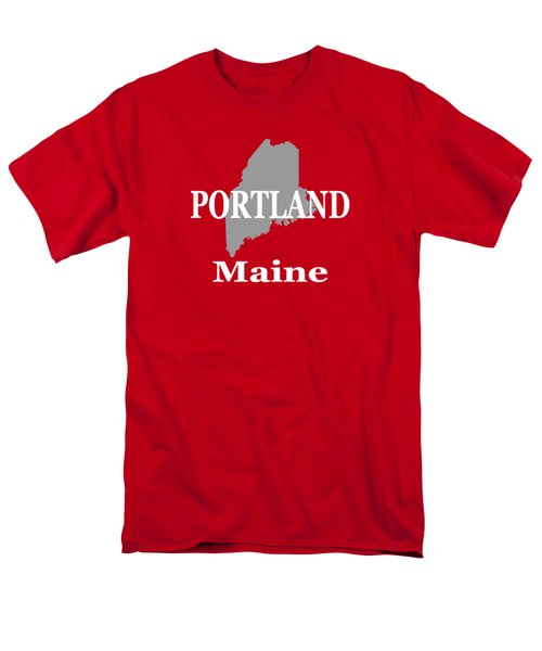 Men's T-Shirt  (Regular Fit) featuring the photograph Portland Maine State City And Town Pride  by Keith Webber Jr