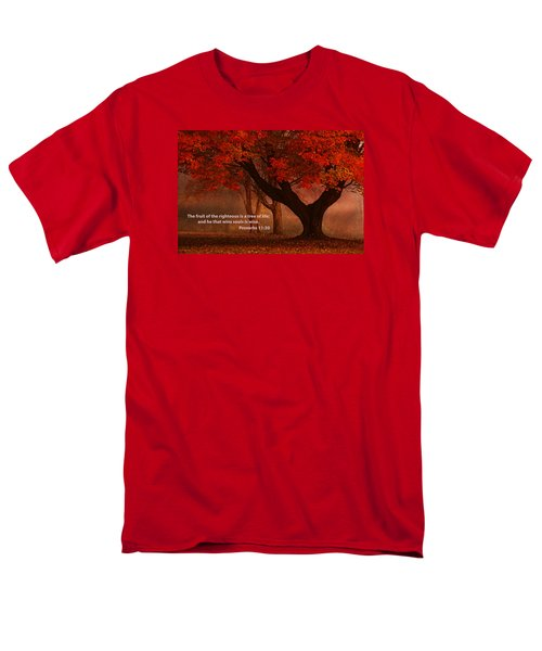 Men's T-Shirt  (Regular Fit) featuring the photograph Proverbs 11 30 Scripture And Picture by Ken Smith