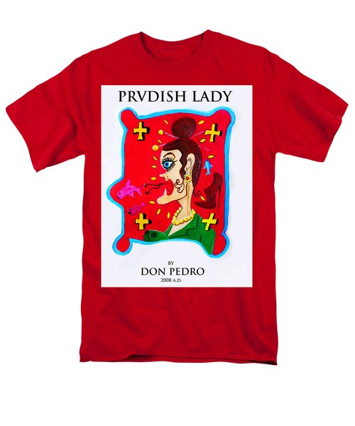 Prvdish Lady Men's T-Shirt  (Regular Fit) by Don Pedro De Gracia
