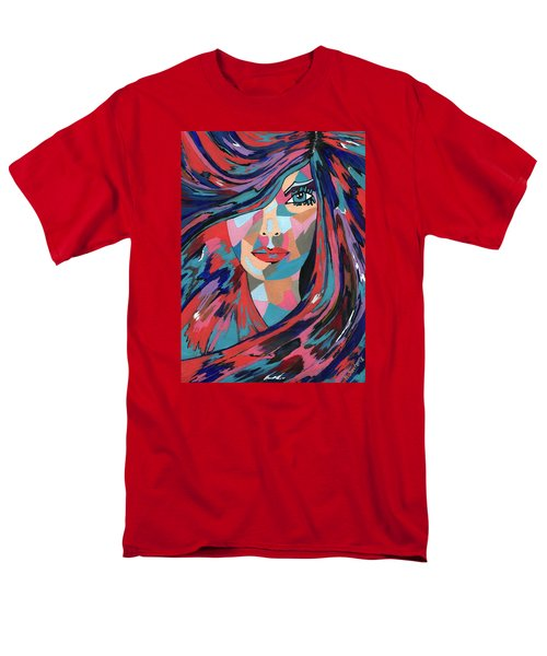 Men's T-Shirt  (Regular Fit) featuring the painting Psychedelic Jane by Kathleen Sartoris