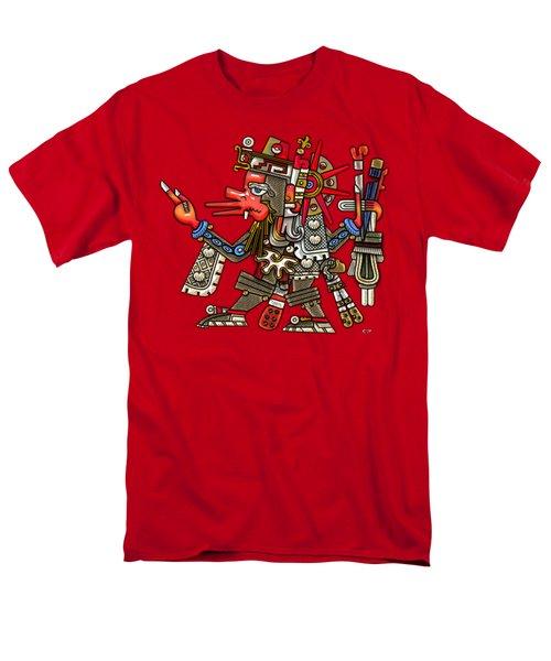 Quetzalcoatl In Human Warrior Form - Codex Borgia Men's T-Shirt  (Regular Fit) by Serge Averbukh