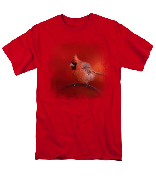 Radiant Red Bird Men's T-Shirt  (Regular Fit) by Jai Johnson