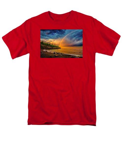 Rainbow Point Men's T-Shirt  (Regular Fit) by Rikk Flohr