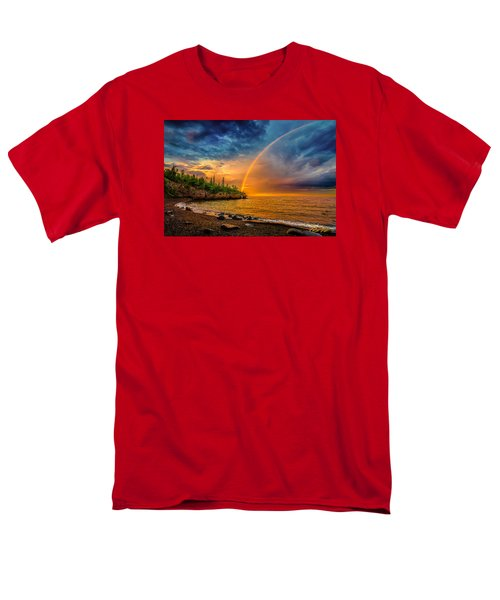 Rainbow Point Men's T-Shirt  (Regular Fit)