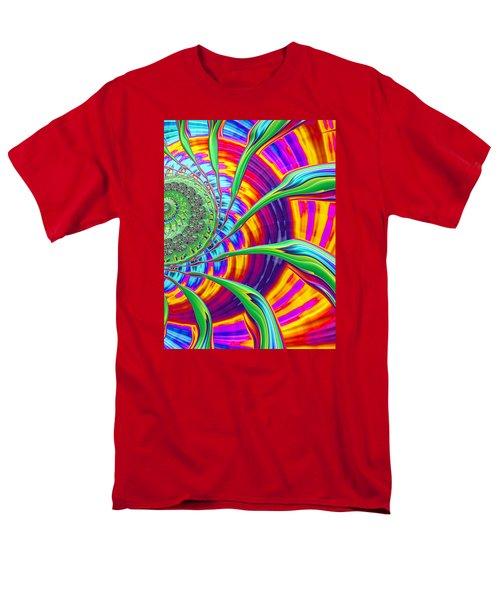 Rainbow Sun Men's T-Shirt  (Regular Fit) by Ronda Broatch