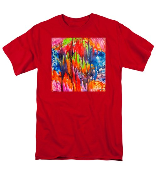 Men's T-Shirt  (Regular Fit) featuring the painting Raindrops On The Window by Dragica  Micki Fortuna