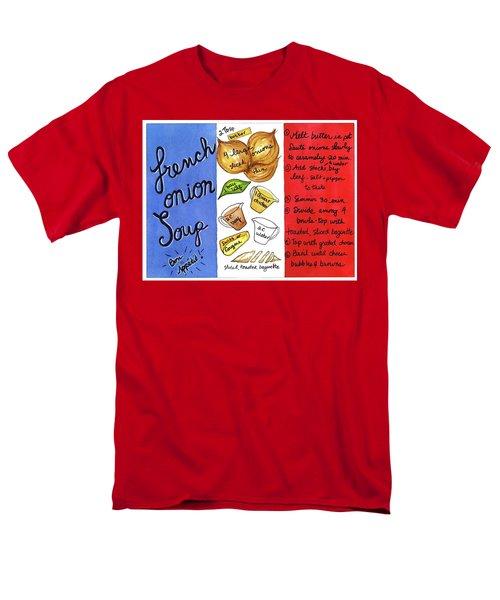 Recipe French Onion Soup Men's T-Shirt  (Regular Fit)