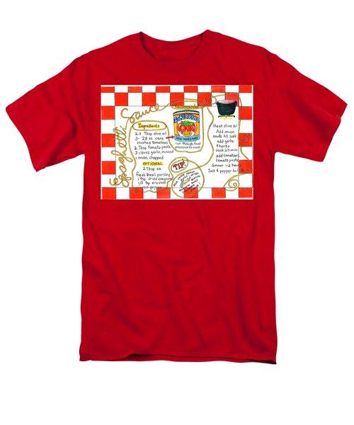 Recipe -spaghetti Sauce  Men's T-Shirt  (Regular Fit)