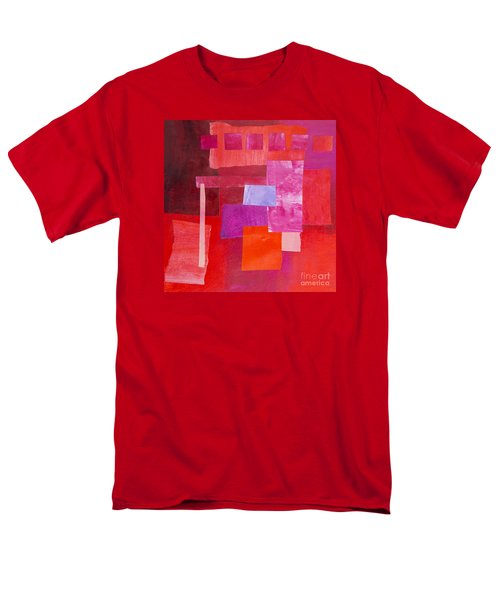 Men's T-Shirt  (Regular Fit) featuring the mixed media Red 2 by Elena Nosyreva