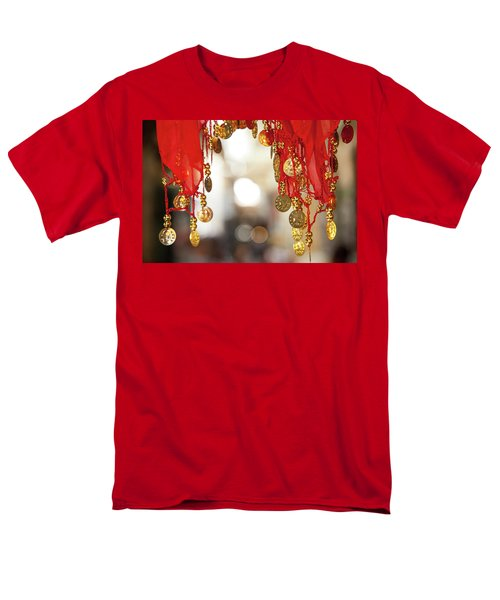 Red And Gold Entrance To Market Men's T-Shirt  (Regular Fit) by Yoel Koskas
