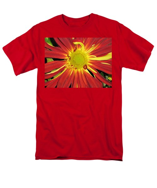 Red And Yellow Flower Men's T-Shirt  (Regular Fit) by Barbara Yearty