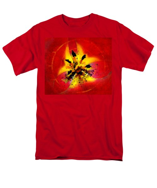 Red And Yellow Flower Men's T-Shirt  (Regular Fit) by Judi Saunders