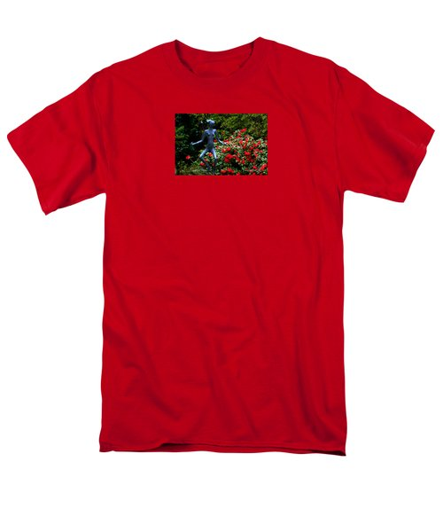 Men's T-Shirt  (Regular Fit) featuring the photograph Red Azalea Lady by Susanne Van Hulst