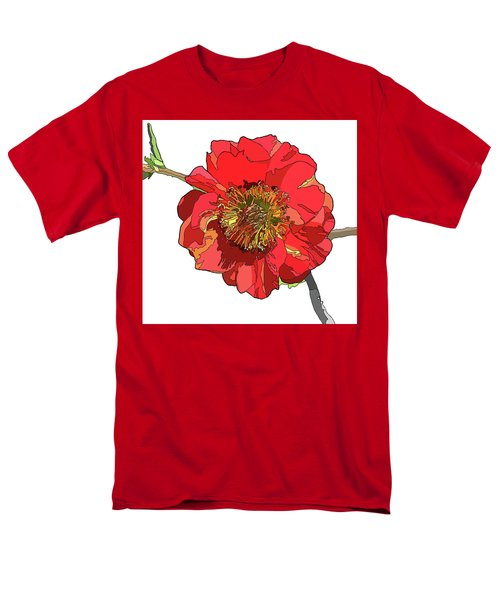 Red Blossom Men's T-Shirt  (Regular Fit) by Jamie Downs