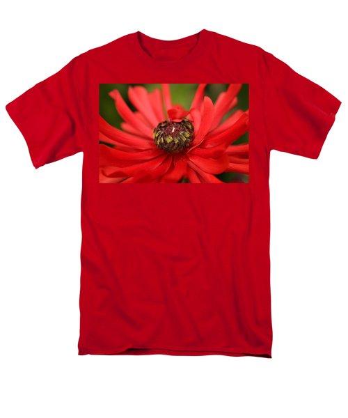 Red Flower Men's T-Shirt  (Regular Fit) by Ralph A  Ledergerber-Photography