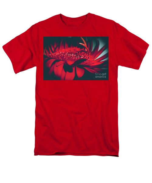 Men's T-Shirt  (Regular Fit) featuring the photograph Red Flowers Parametric by Sharon Mau
