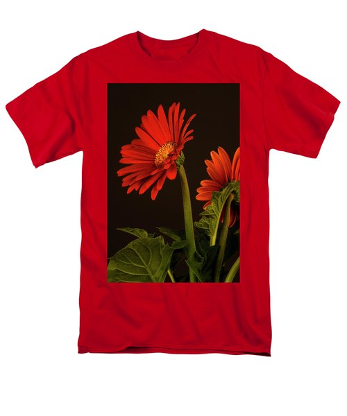 Red Gerbera Daisy 1 Men's T-Shirt  (Regular Fit) by Richard Rizzo
