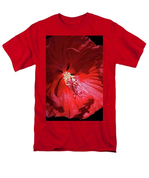Red Hibiscus Men's T-Shirt  (Regular Fit) by Judy Johnson