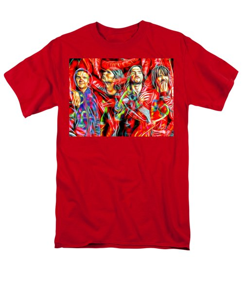 Red Hot Chili Peppers In Color II  Men's T-Shirt  (Regular Fit) by Daniel Janda