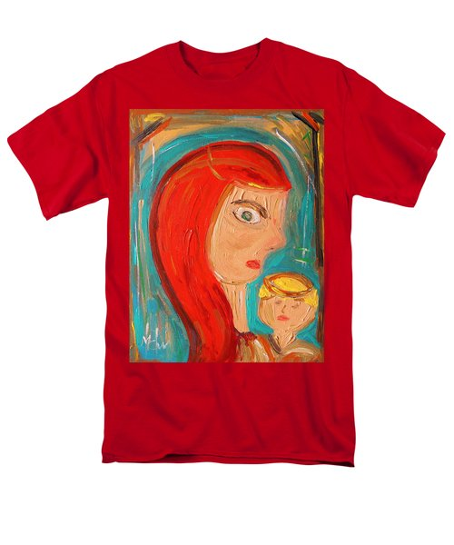 Men's T-Shirt  (Regular Fit) featuring the painting Red Madonna by Mary Carol Williams