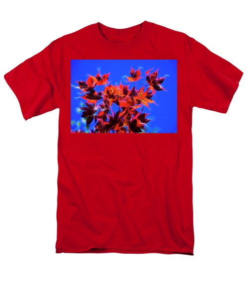 Red Maple Leaves Men's T-Shirt  (Regular Fit) by Yulia Kazansky