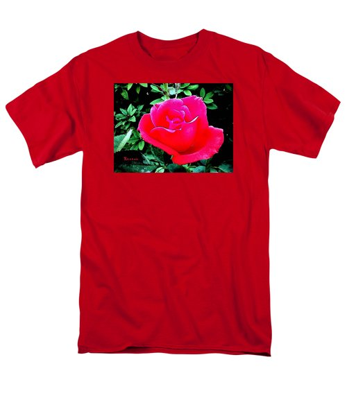Men's T-Shirt  (Regular Fit) featuring the photograph Red-pink Rose by Sadie Reneau